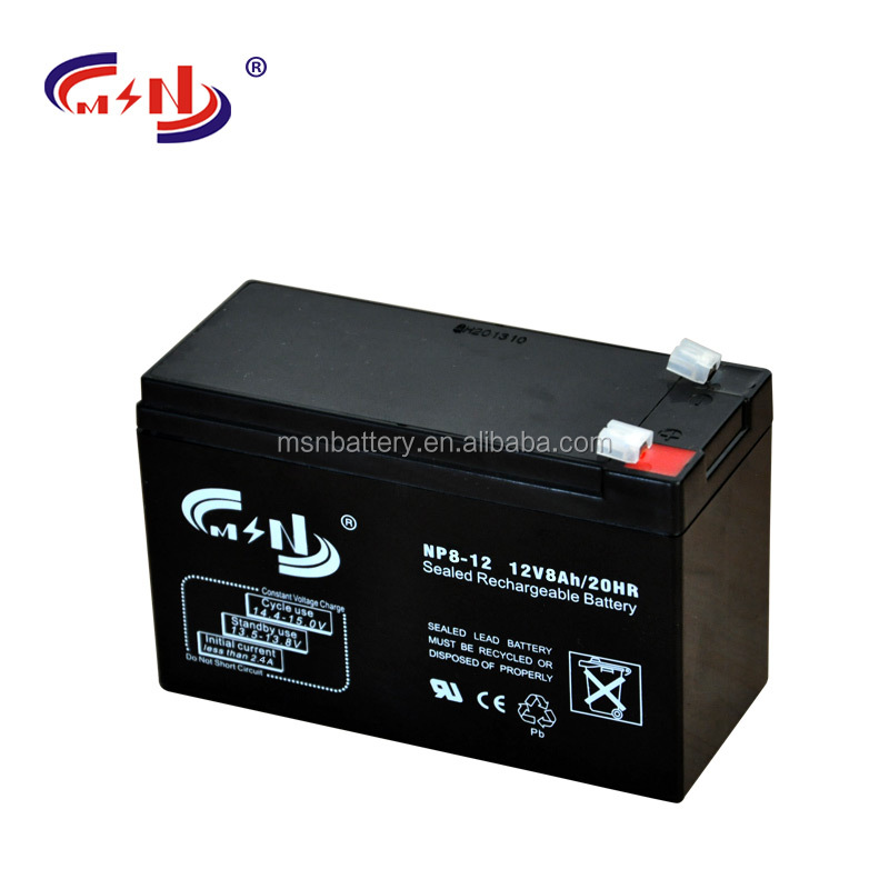 12v Voltage and UPS Usage deep cycle battery 12V8Ah backup battery