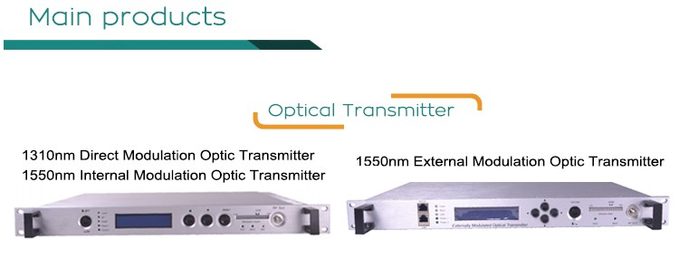 Low chirp effect Cable Optical Signal Transmitter 1550nm optical transmiter