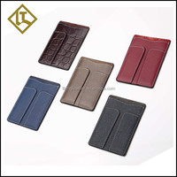 Customized genuine leather ID card holder withouf flap