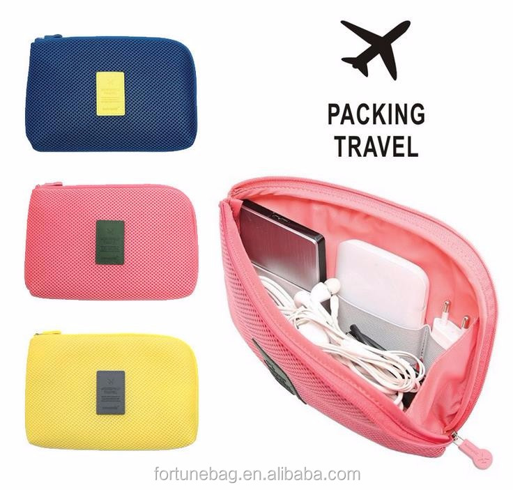 Universal travel cable organizer Multi-function digital travel bag waterproof shockproof computer power supply cable storage bag