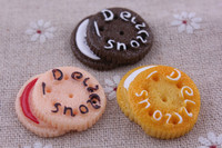 AAA Quality Fashion style Kawaii Resin Biscuit Flatback Cabochon