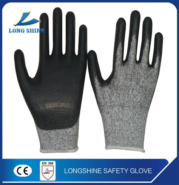 Best Price 13G HPPE liner Seamless Nitrile Coated anticut level 3 garden western Safety Hand Gloves