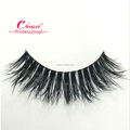 Professional customized clear thread mink fur strip fiber false eyelashes