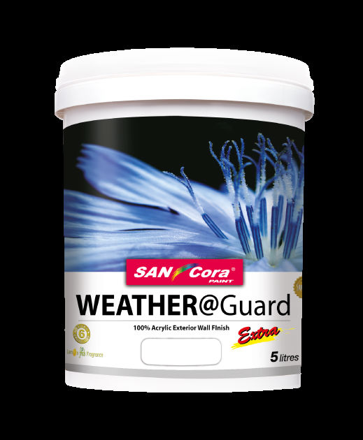 Exterior Paint Sancora Weather Guard 100 Acrylic Exterior Wall Finish View Exterior Wall