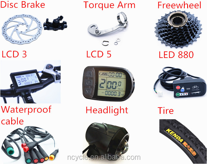 48V 1000W / 1500w hub motor Electric Bike Conversion Kit with CE