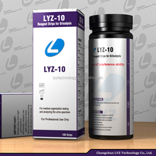 LYZ hemoglobin 10 parameter urine test strips CE FDA approved