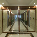 Luxury Art Interior Glass Door, Deep Carved Glass Partition, Tempered Glass Sliding Doors
