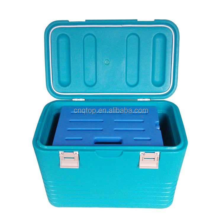 46L PE insulated ice chest portable cooler box