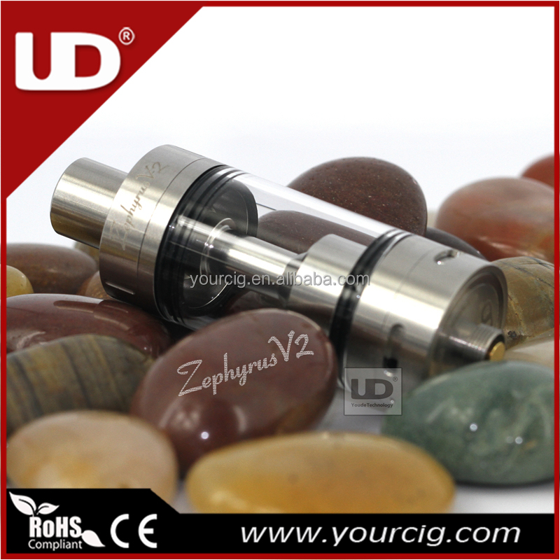 UD Zephyrus V2 sub ohm tank atomizer 22mm 6 ml juice support RBA and OCC head coils