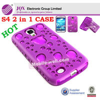 S4 Cell phone 2 in1 protector case for Samsung Galaxy S4 I9500 PC+TPU cover