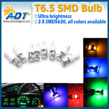 Wholesale Price Car Interior Lamps T6.5 5630 3-SMD Led Bulb Read Dashboard Indicator Light 12V DC