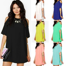 Europe Fashion Women Boho Chiffon Dress Sexy Mini Dress