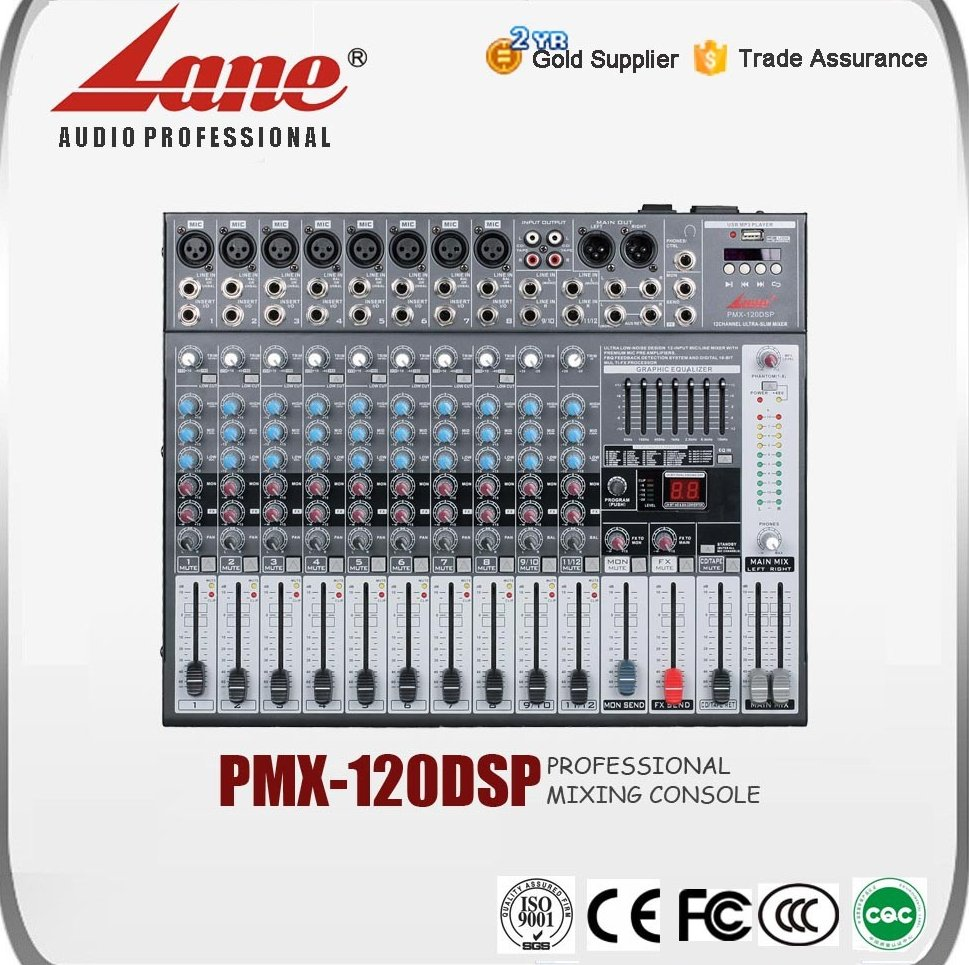 Lane audio mixer with phantom power PMX - 120DSP
