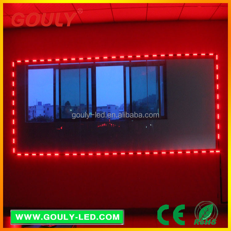 china manufacturer led light iron window rail bars decorative Design 5050