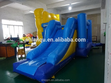 Cartoon castle inflatable jumping combo inflatable bouncer with slide