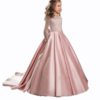 OEM ball gown girl's dress kids clothing children long sleeve first communion dresses kids evening gowns party dress for girls