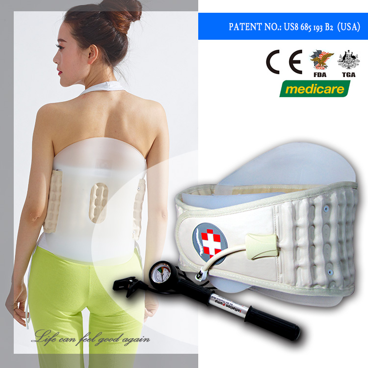 Factory supply pain relief air traction belt/back pain relief brace to assist waist active rehabilitation