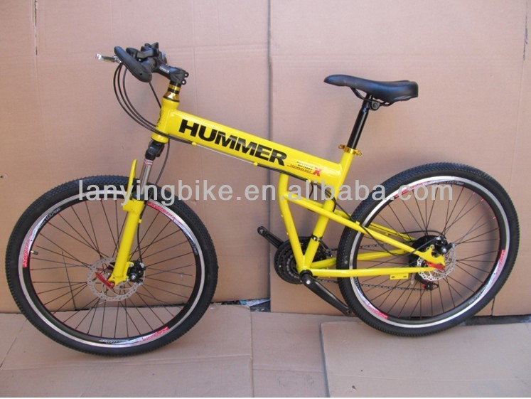 Unique yellow HUMMER F/R Disc brake high quality anfd fashinable Folding <strong>Bicycle</strong>