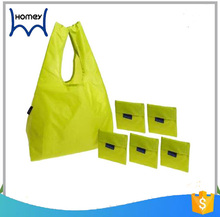 cheap eco 190t polyester nylon foldable grocery shopping bag