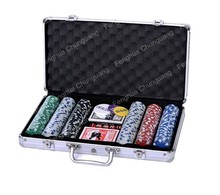 500 personalized poker wholesale custom aluminium poker chips case