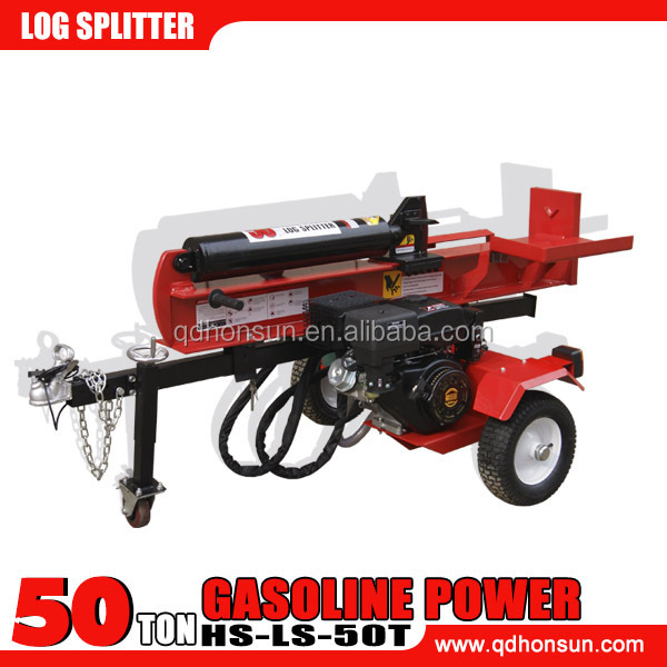 China supplier CE approved electric start hydraulic horizontal and vertical 50 ton tree logs cutting equipment