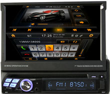 "LSQ star 7"" one din universal dvd car audio navigation system with detachable screen"