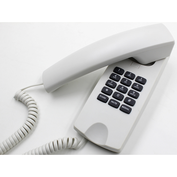 trimline phone wall mounted telephone analog hotel bathroom corded telephone