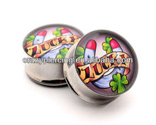 Wholesale Stainless Steel Ear Gauges Piercing Double Flared Ear Plug Flesh Tunnel
