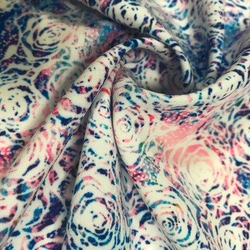 No moq custom flower digital printed microfiber 80%polyester 20% nylon fabric