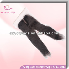 Direct from factory 100% human hair 4*4 inch invisible part closure