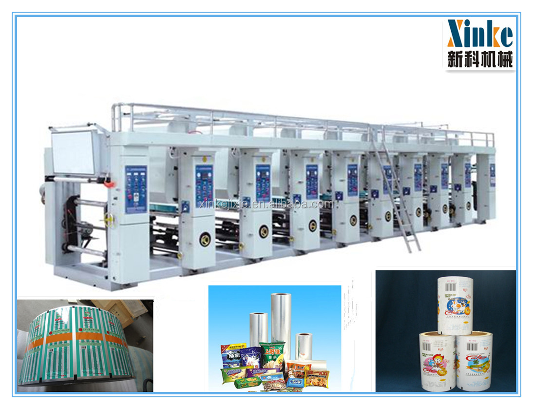 XINKE Automatic Digital High Speed Plastic Film gravure Press