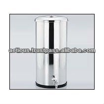 STAINLESS STEEL GRAVITY WATER FILTERS with CERAMIC SILVER IMPREGANATED CANDLEs