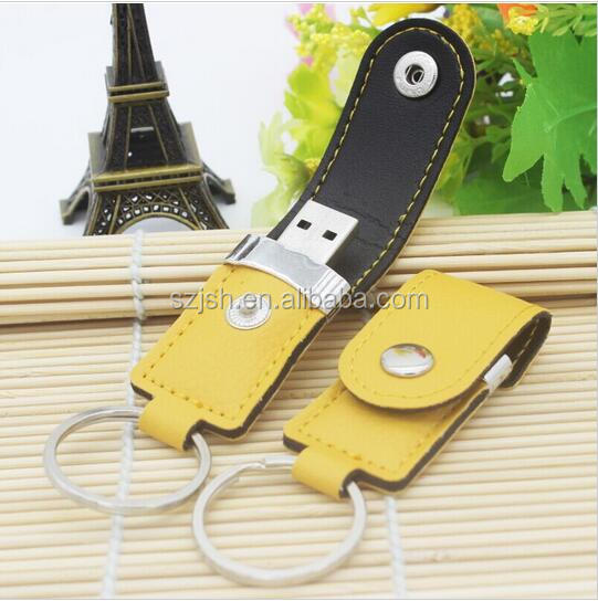 Cheap Price Leather 2.0 USB Memory Drive For Promotion Giveway