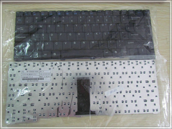 US laptop keyboard for Axioo MNC / Clevo M540 black keyboard