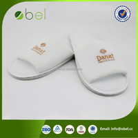 eco-friendly soft hotel airplane slippers for adults