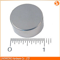 Strong thin neodymium magnet flat ndfeb magnets nickel silver color