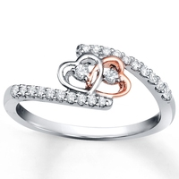 Golden wedding souvenirs fashion rings heart ring
