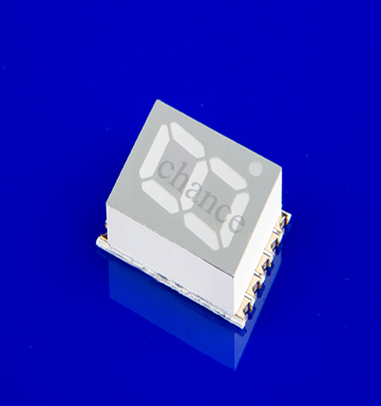 small thin 0.2 inch 1 digit 7 segment smd led display Surface Mounted Devices