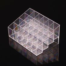 Trapezoid Clear Makeup Display Lipstick Stand Case Cosmetic Organizer Holder Lipstick Display Stand