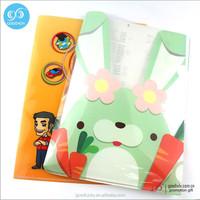 office promotional products L shape A4 Plastic pockets PP file folder