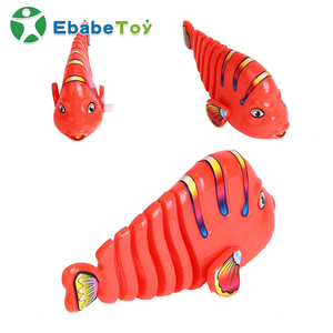 custom Hot sale Wag Shake Tail Tropical Fish Swimming Small Plastic wind up Toys