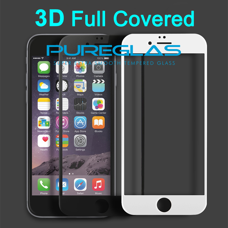 Factory supply 3D tempered glass <strong>manufactur</strong> for iphone6 with screen protector full clear