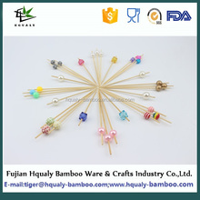 Round sticks bamboo Fruit Skewer China made hot sale nature