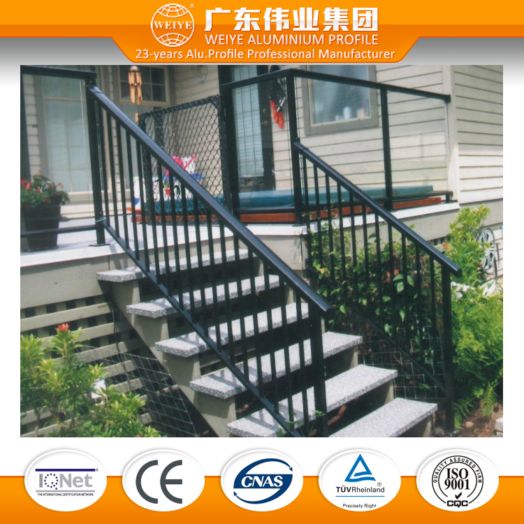 customized aluminum railing for stairs,aluminum railing system price