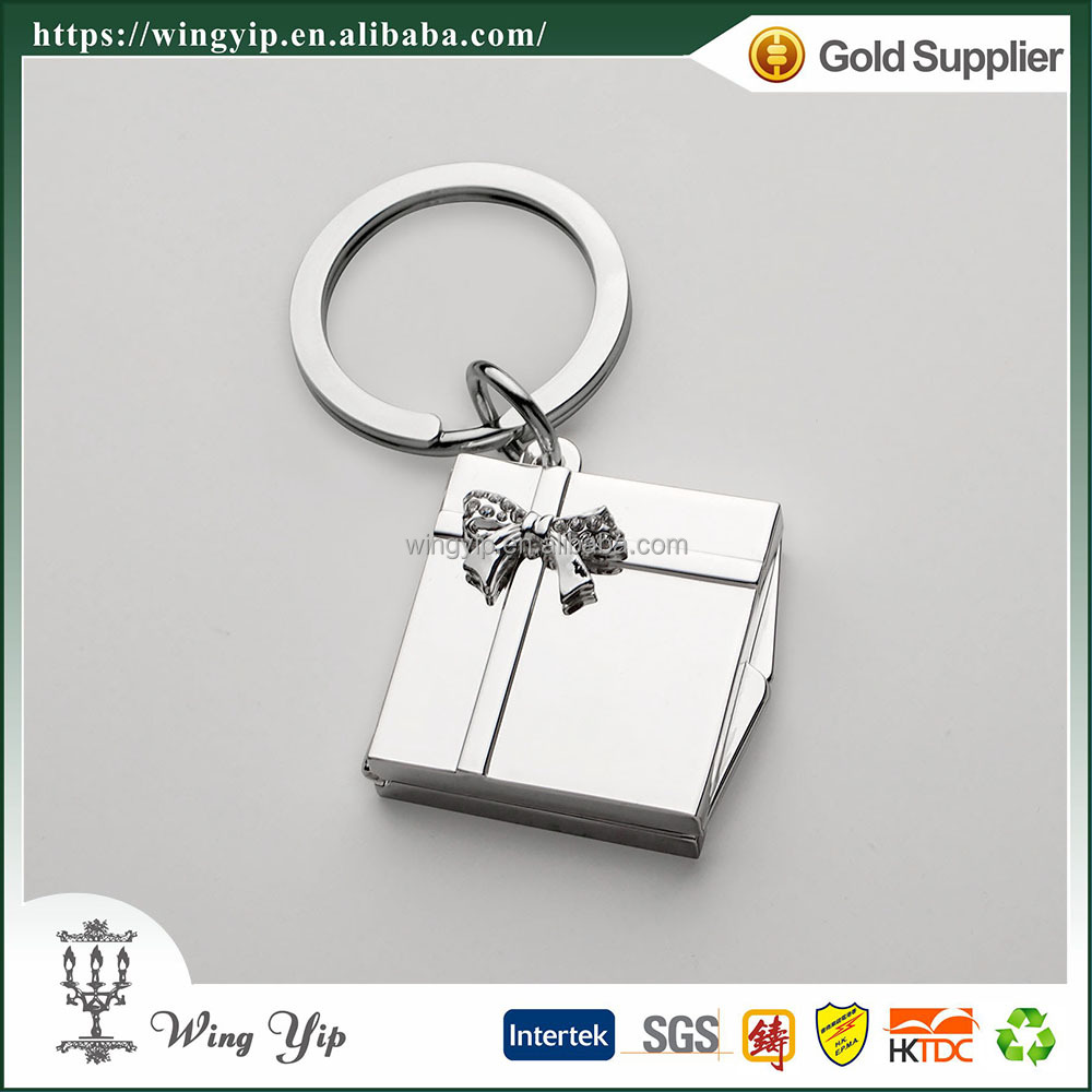 Wholesales Tailor made Square Locket Promotion Metal Keychain