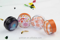 Small candle round candy tin cans