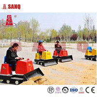 Indoor and Outdoor Amusement Park Small Bulldozer Rides, Remote Control Kids Bulldozer