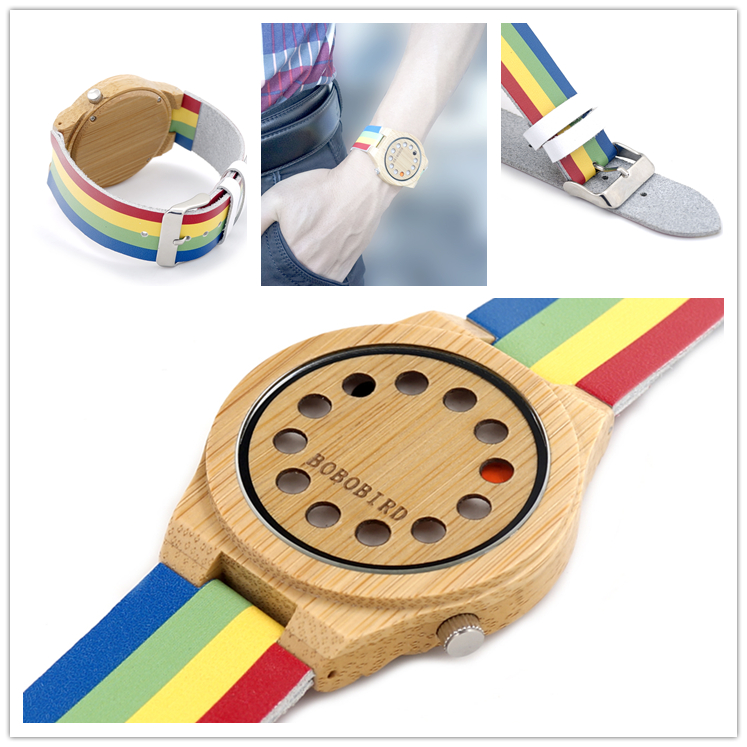 <strong>HOT</strong>!new trend design quartz watch with colorful genuine leather band create your own brand watches