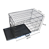 folding Collapsable aluminum metal dog crate