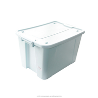 2016 58L plastic storage case with handle stackable container brochure storage box hard storage case
